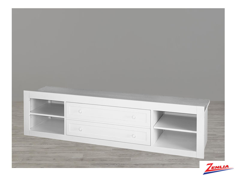 White Storage Unit With Side Rails Panel