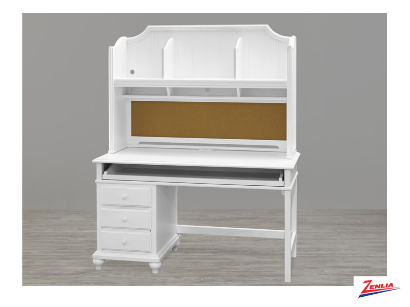 White Student Desk Hutch