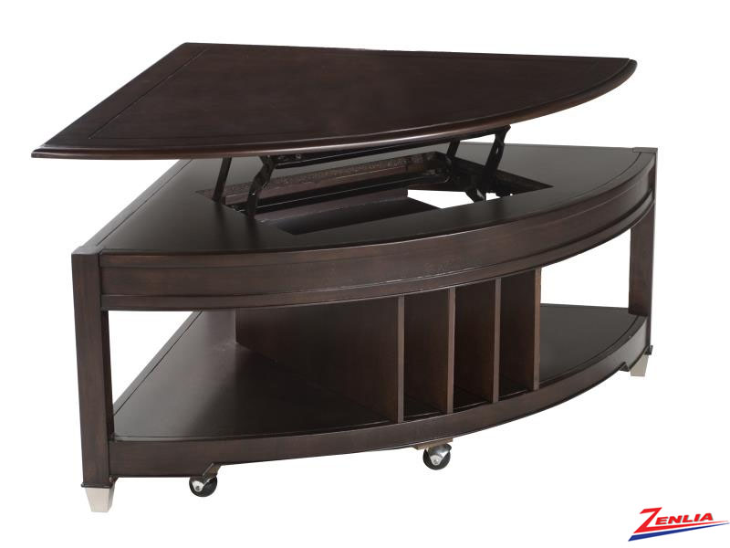 Dari Pie Shaped Lift Top Coffee Table