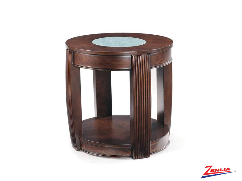 In Oval End Table