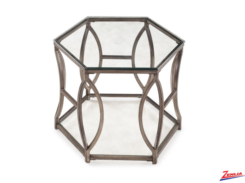Neve Hexagonal End Table