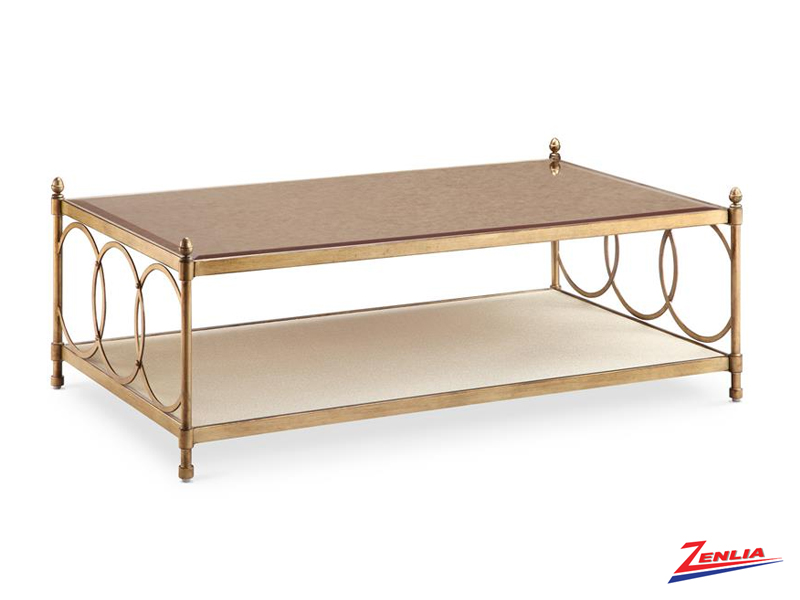 Tre Brushed Bronze Coffee Table