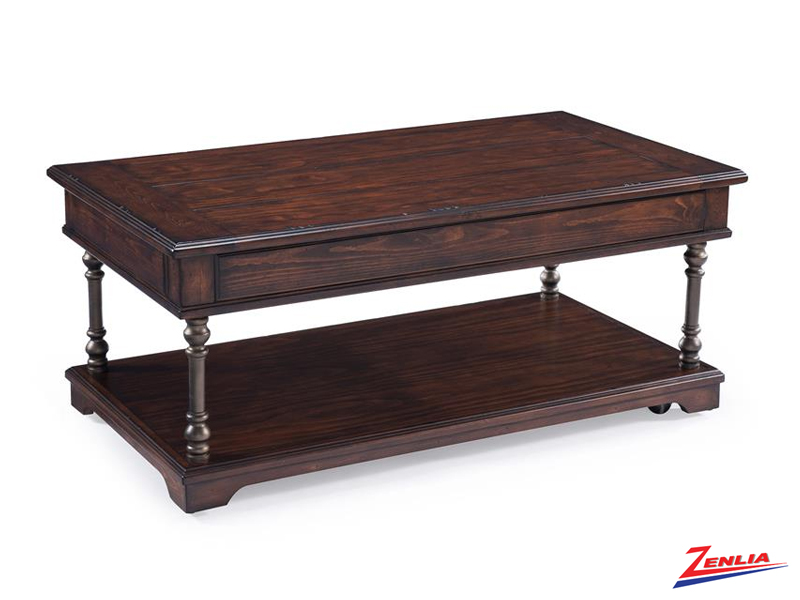 Butler Rectangular Lift-top Coffee Table W/casters