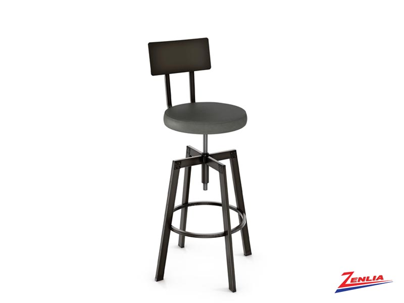 Style 40-563 Metal Fabric Screw Stool