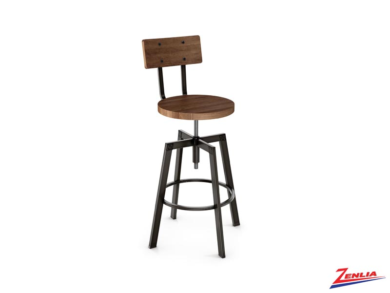 Style 40-263 Metal Wood  Screw Stool