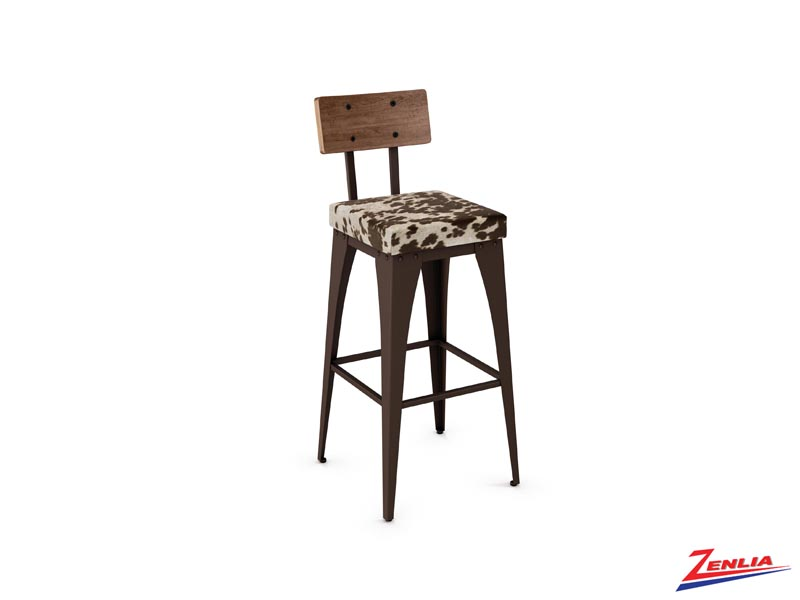 Style 40-264 Metal Fabric Non Swivel Stool