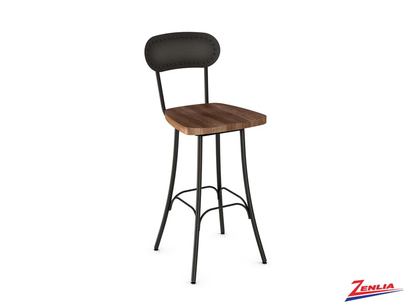 Style 41-568 Metal Wood Swivel Stool