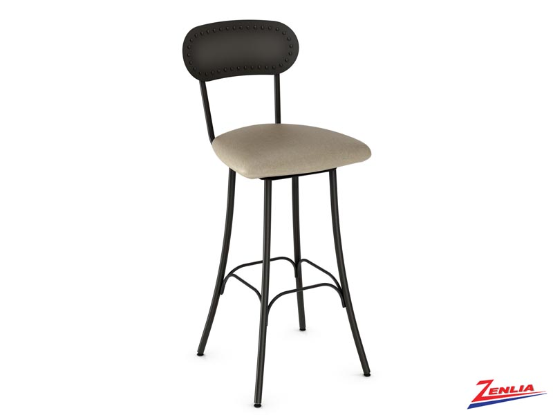 Style 41-568  Metal Fabric Swivel Stool