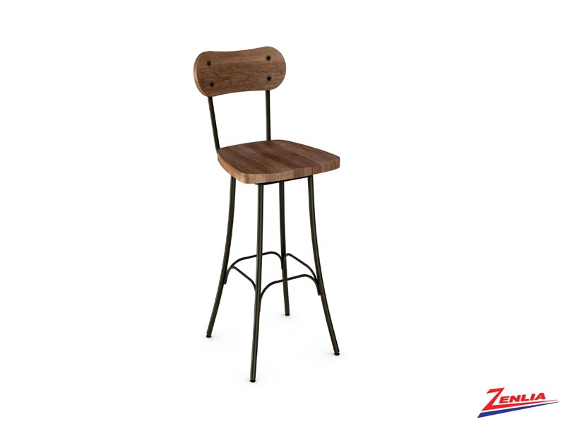 Style 41-268 Metal Wood Swivel Stool