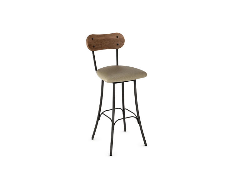 Style 41-268 Metal Fabric Swivel Stool