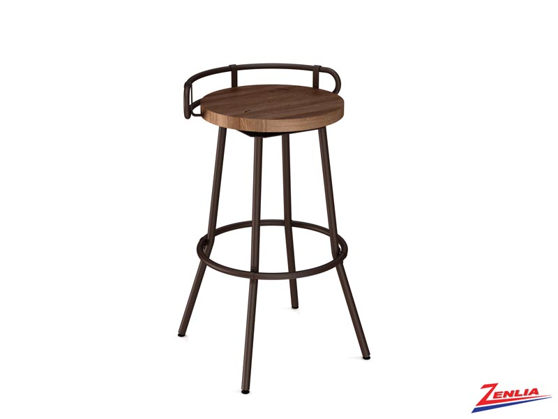 Style 41-565  Metal Wood Swivel Stool