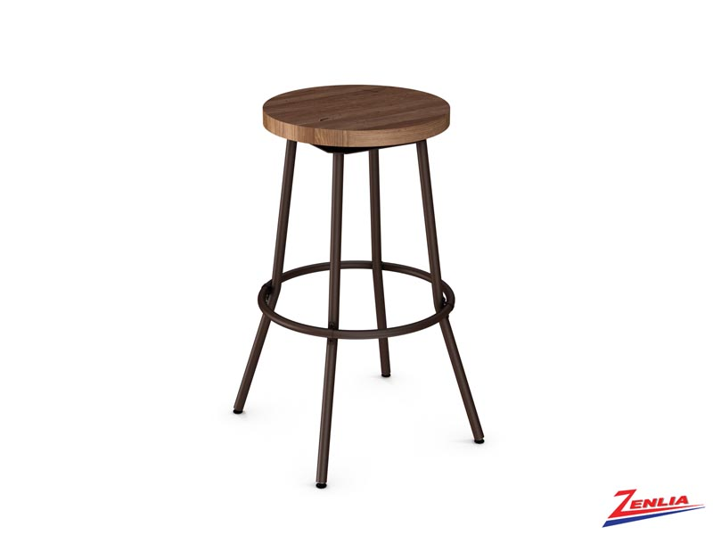 Style 42-565  Metal Wood Swivel Stool