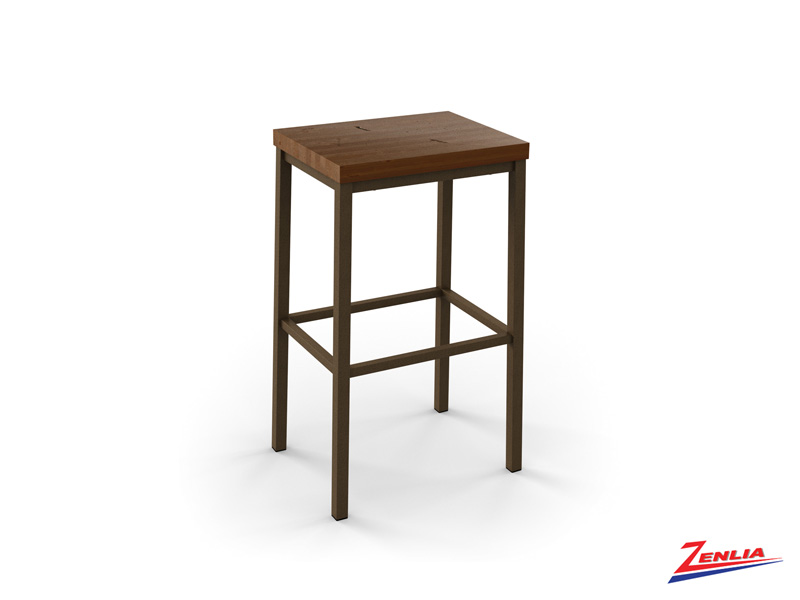 Style 40-038 Metal Wood Non Swivel Stool