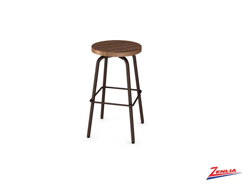 Style 42460  Metal Wood Swivel Stool