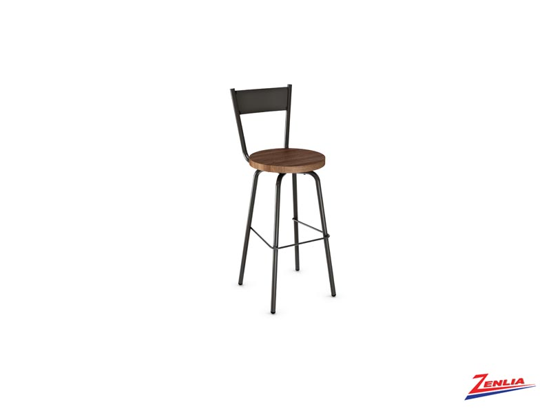 Style 40-487  Metal Wood Stool