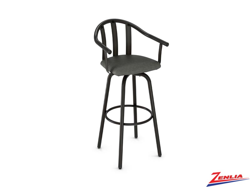 Style 40-491 Metal Fabric Swivel Stool