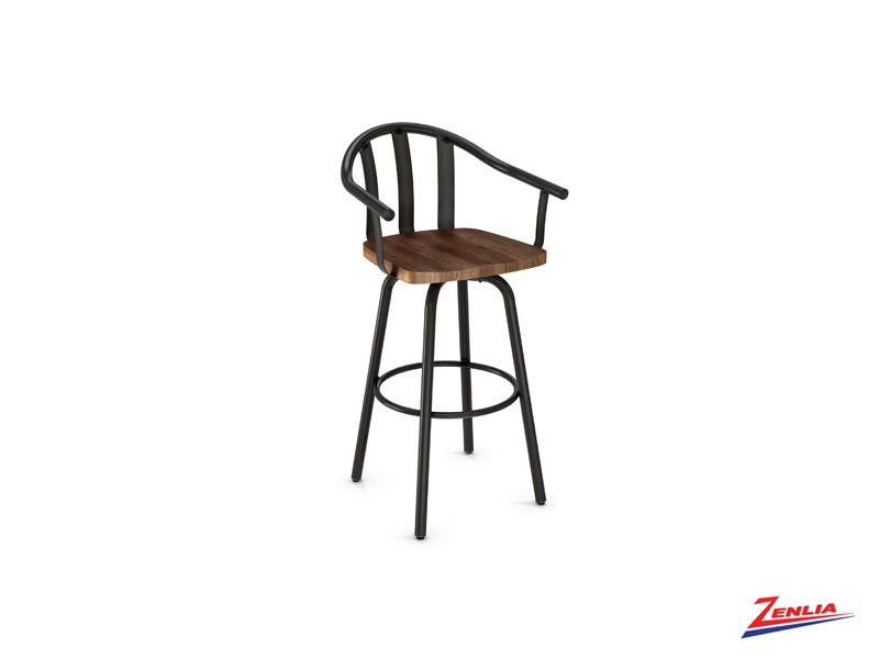 Style 40-491 Metal Wood Swivel Stool