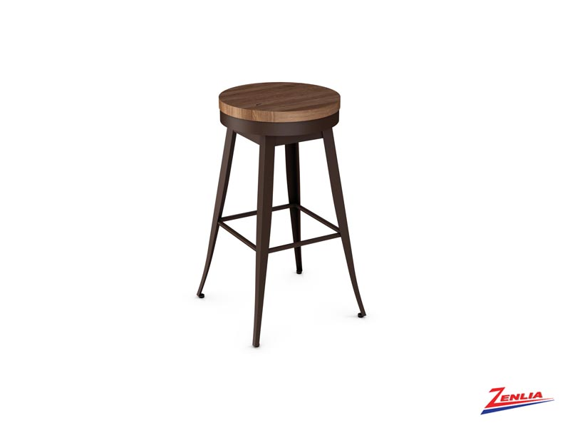 Style 42-414 Metal Wood Swivel Stool