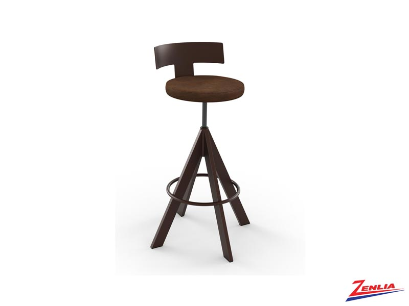 Style 40-614 Metal Fabric Non Swivel Stool