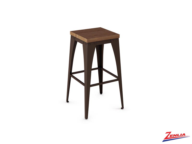 Style 42-564 Non Swivel Metal Wood Stool
