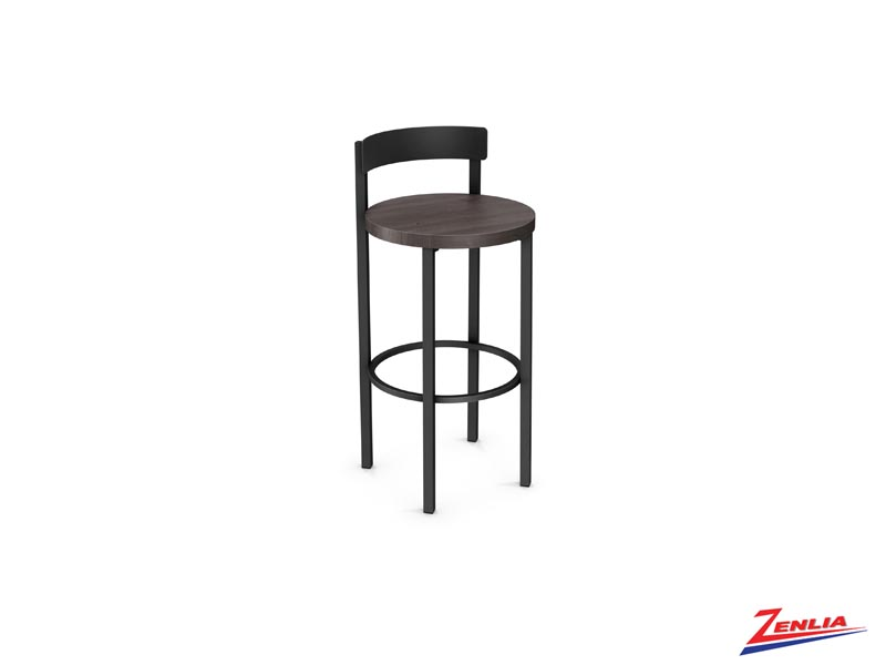 Style 40-468 Metal Wood Non Swivel Stool