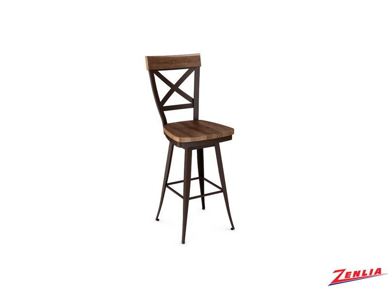 Style 41-414 Metal Wood Swivel Stool