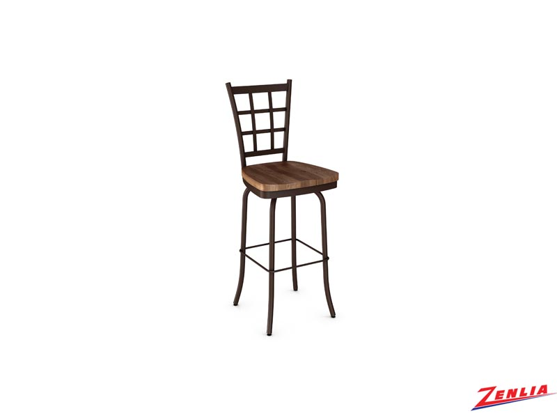 Style  41469 Metal Wood Swivel Stool