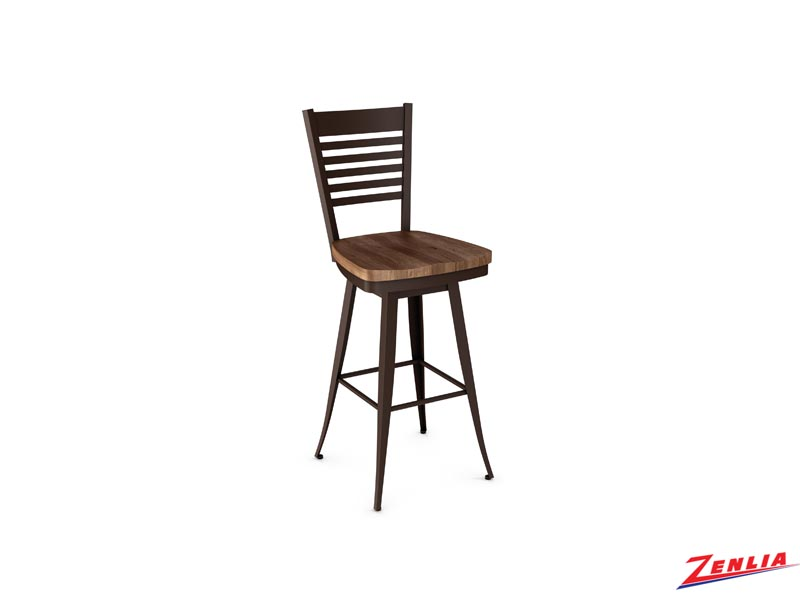 Style 41498 Metal Wood Swivel Stool