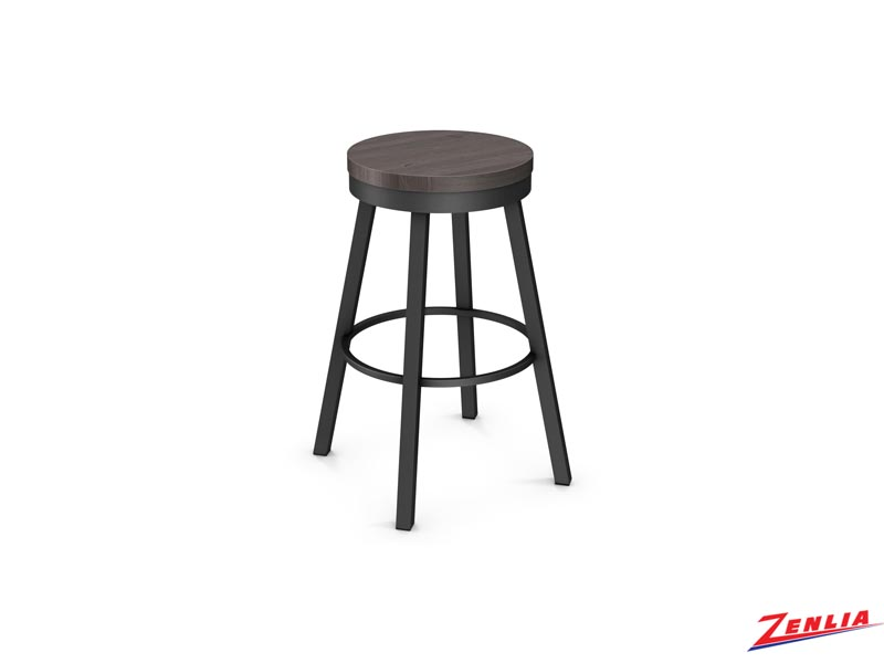 Style 42493 Metal Wood Swivel Stool
