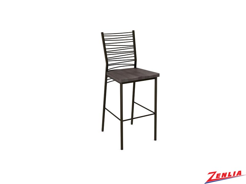 Style 40-123 Metal Wood Non Swivel Stool