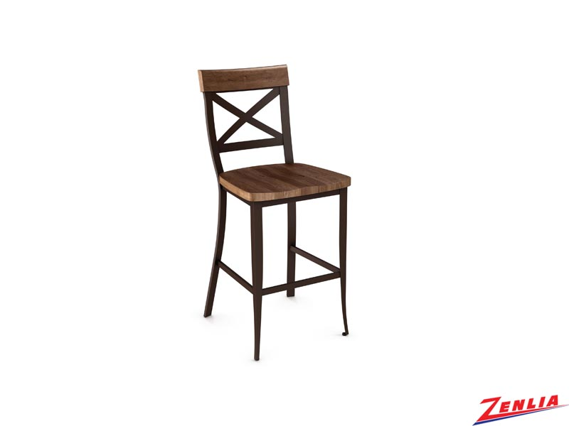 Style  40-224 Metal Wood Non Swivel Stool