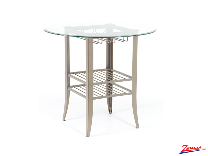 Andy  Round Glass Pub Table