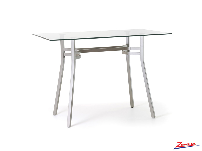 Matis Rectangular Glass Pub Table