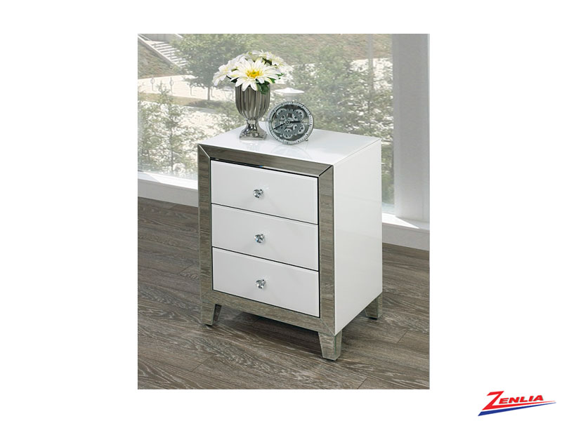Wht 001 Small Night Stand