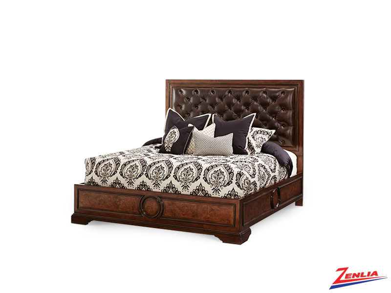 Bel Cera Leather Bed