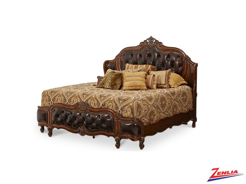Lave Melan Leather Bed