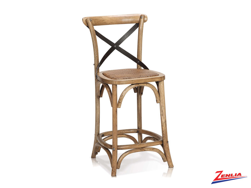 Rev Counter Stool Rustic Oak