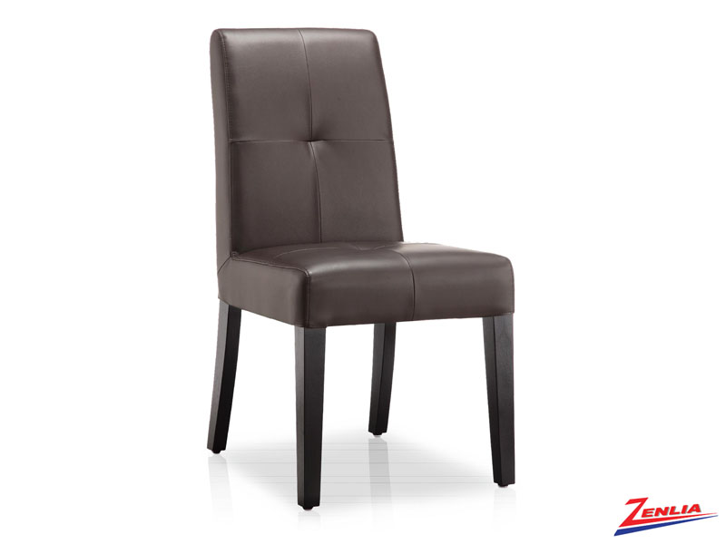 Quin - Transitional Side Chair Brown.