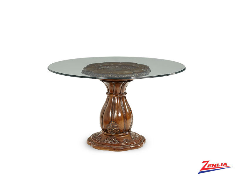 Lave Melan Glass Dining Table