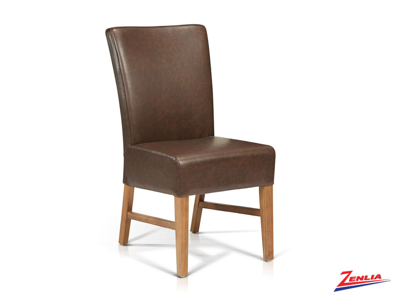 Deker - Side Chair With Stretchers-brwn