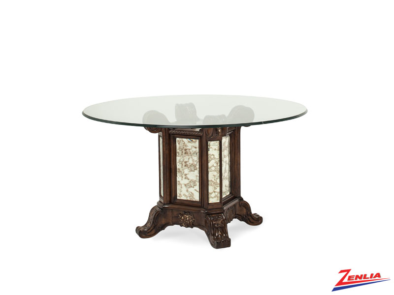 Platine Espresso Glass Dining Table