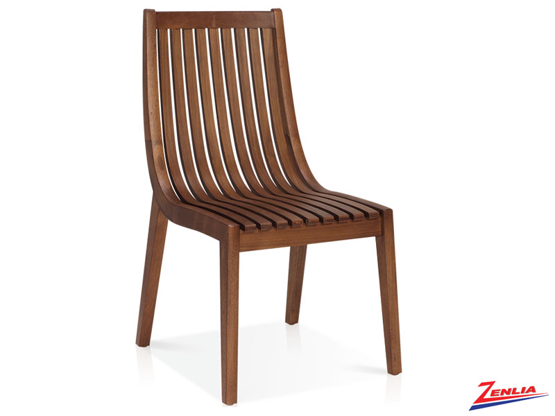 Canali - Curved Slat Back Side Chair
