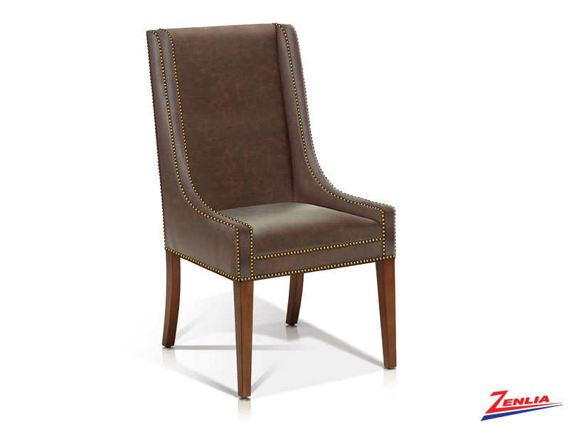 Bard - Transitional Side Chair - Vintage Caramel