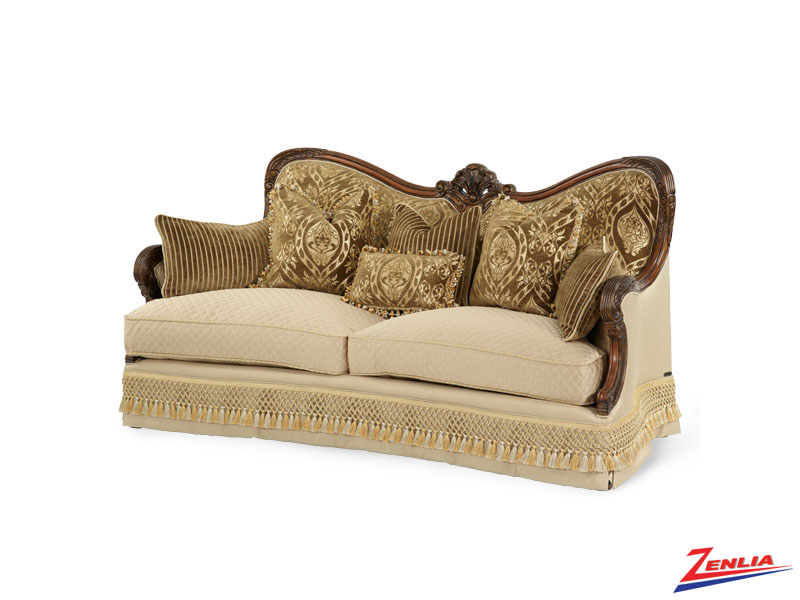 Chat Beau Wood Trim Sofa