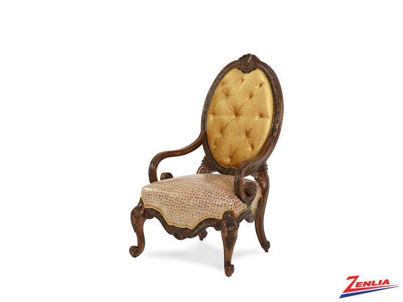 Chat Beau Leather/ Fabric Chair