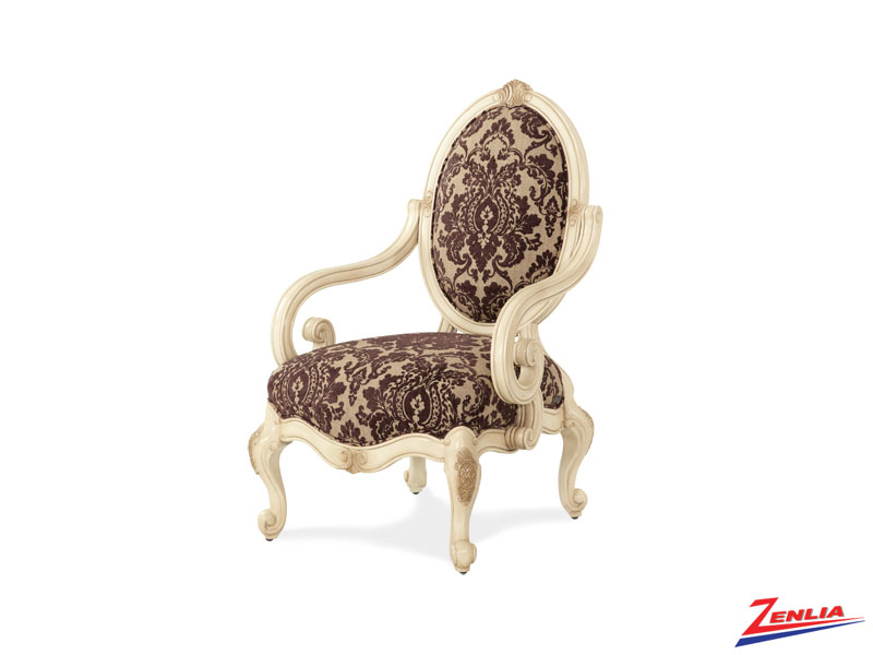 Lave Blanc Oval Back Chair