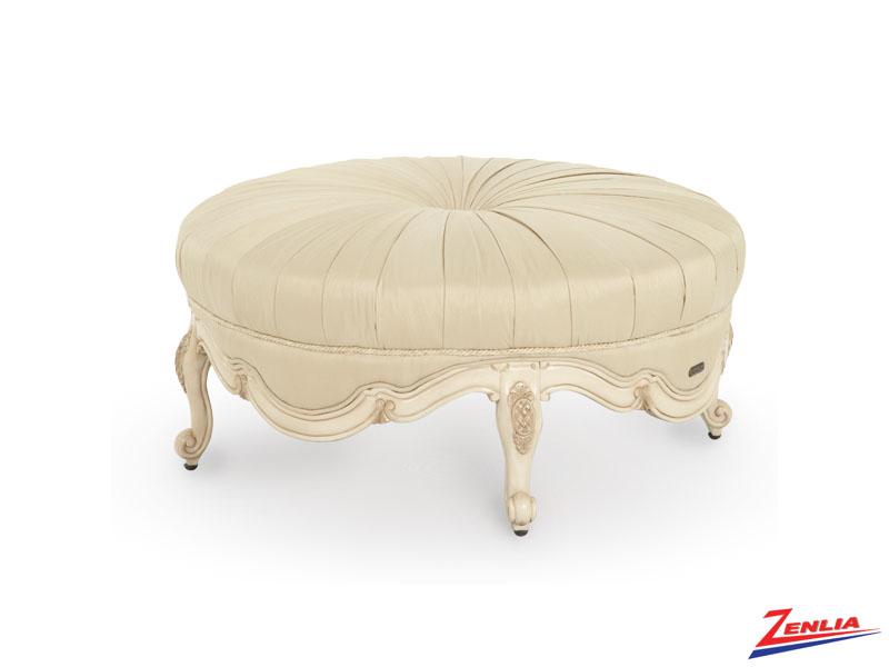 Lave Blanc Round Ottoman