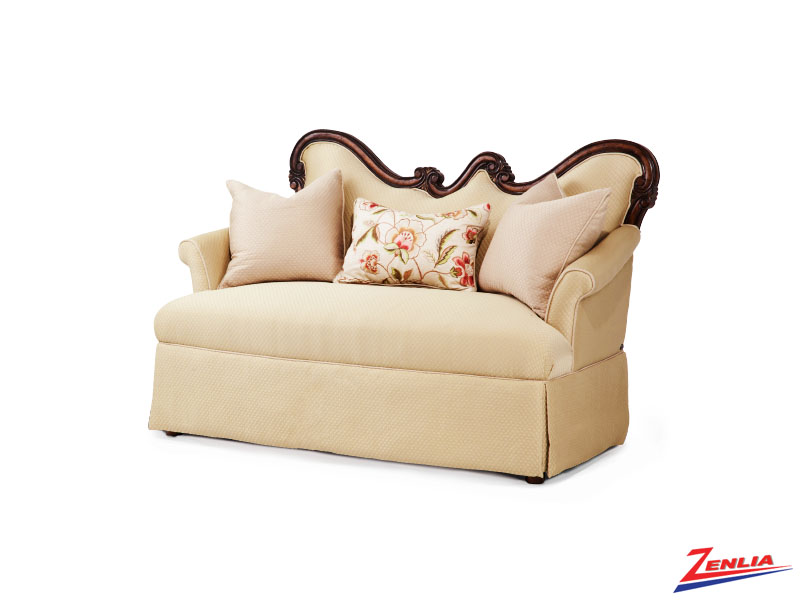 Lave Melan Wood Trim Settee