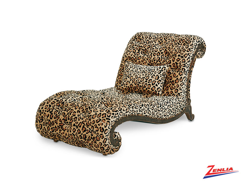 Victoria Leopard Armless Chaise