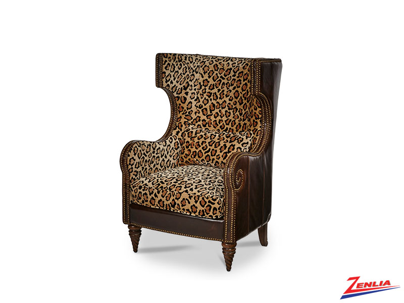 Victoria Leopard Wing Chair